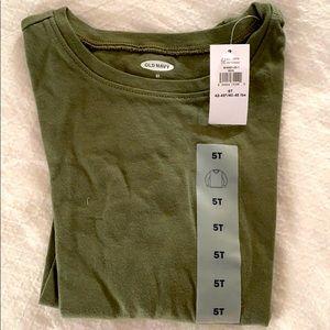 Olive green toddler long sleeve shirt